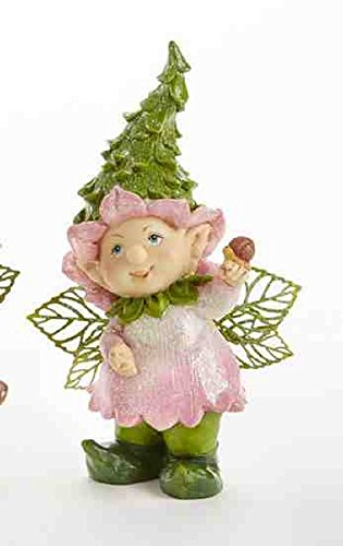 Delton Products 7.9 inches Resin Pink Fairy Gnome Collectible Figurine -