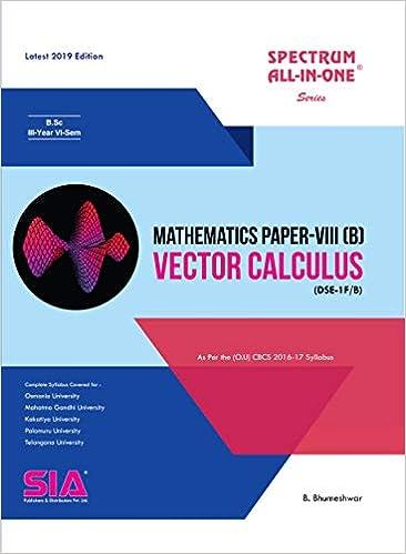 Amazon in: Buy Mathematics Paper-VIII (B) (Vector Calculus