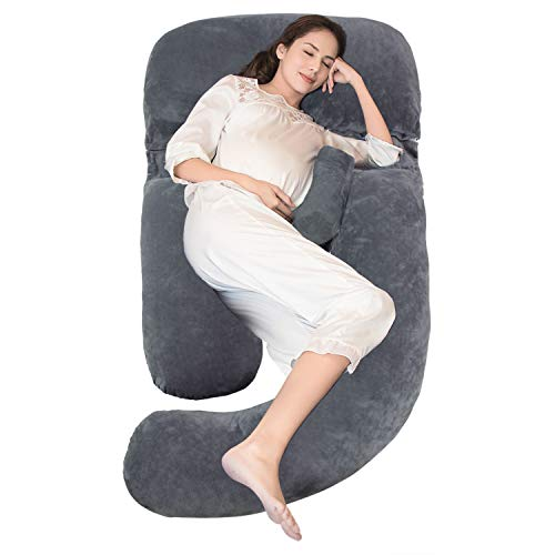 Onory Full Body Pregnancy Pillow U-shaped Maternity Pillow Removable Velvet Cover for Sleeping with Nursing Baby Design Support for Back Belly Hips Legs (Best Pregnancy Body Pillow)