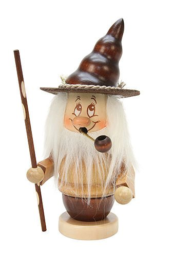 German Incense Smoker Mini-Gnome with stick - 16,5cm / 6,5 inch - Christian Ulbricht