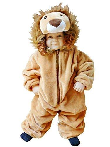 Fantasy World Boys/Girls Lion Halloween Costume, Size 2T,