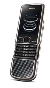 Nokia 8800 Carbon Arte - Teléfono móvil libre (UMTS, Bluetooth, MP3, juegos, cámara con 3,2 Mpx), color negro [Importado de Alemania]