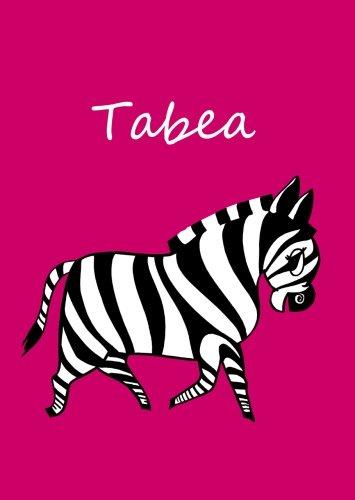 personalisiertes Malbuch/Notizbuch/Tagebuch - Tabea: Zebra - A4 - blanko Taschenbuch – 27. April 2016 edition cumulus B01FUM2YC4 ART048000 CGN000000