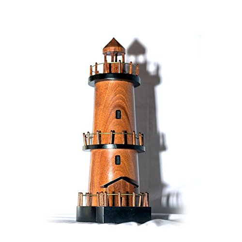 Shopping Zone Plus Mahogany Wood Lighthouse scale model - Handcrafted