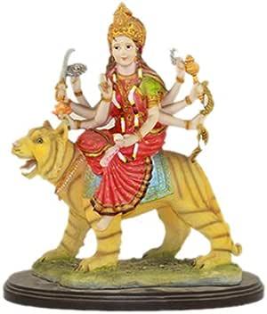 Figura de dios hindú resina - Mataji Carcasa de tigre 30