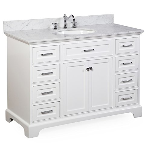 Aria 48″ Bathroom Vanity (Carrara/White) Price