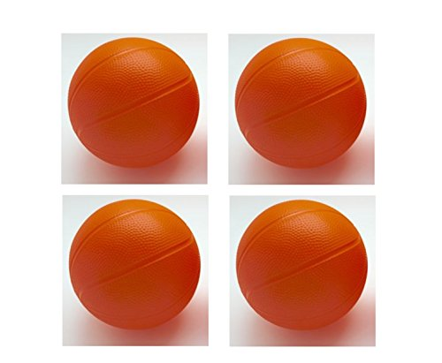 Little Tikes - Toddler / Kids Replacement Basketball Ball - 5.82 inch diameter (Pack of 4)