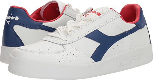 Der B.Elite Gerichts-Schuh Diadora-Männer Weiß / Mazarine Blue / Poinsettia