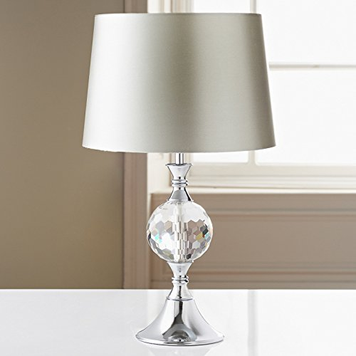 Duchess glass crystal chrome table lamp silver amazon duchess glass crystal chrome table lamp silver aloadofball Gallery