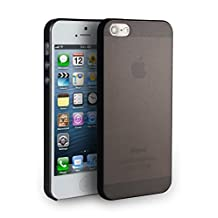 iPhone 5S Case, MagicMobile® Extreme Ultimate Thin Case for iPhone 5 Anti-Scratch Protective Skin Slim-Fit Lightweight Hard TPU Snap On Frost Design Armor Case Cover for Apple iPhone 5 5S [Color:Black]