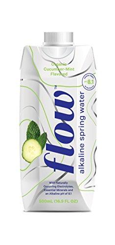 Alkaline Case - Flow Alkaline Spring Water - Organic Cucumber + Mint, in eco-Friendly Packaging - (Pack of 12 x 500ml)