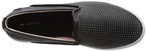 Lacoste Women's Cherre 216 1 Flat, Black/Natural, 9.5 M US