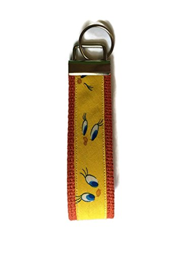 Tickled Pink Boutique Tweety Bird Eyes Wristlet Keychain Fob Yellow (Tweety Bird Key Ring)