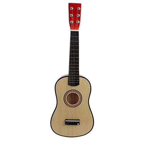 Kinder Gitarre - TOOGOO(R) 23 Gitarre Mini Gitarre Basswood Kinder Musik Spielzeug Akustik Saiteninstrument mit Plektrum 1st String Natueerliche Farbe