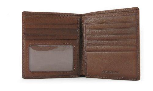 Cashmere Tri Mens Fold - Osgoode Marley Men's Leather RFID Hipster Wallet (Brandy)