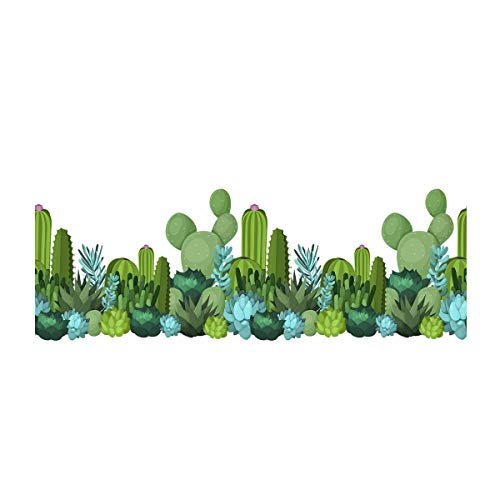 FimKaul Kids Wall Decals Peel and Stick Removable Wall Stickers for Kids Nursery Bedroom Living Room Cactus Car Houses (A) ()