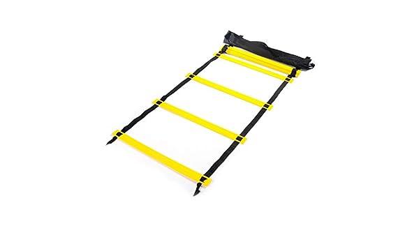 UanPlee 6m (19.68ft) 12 Formación Rejillas De Extremidades Coordinación De Formación Capacidad Escalera Cerebelosa Equilibrio Habilidad Formación Profesional Escalera De Agilidad: Amazon.es: Deportes y aire libre