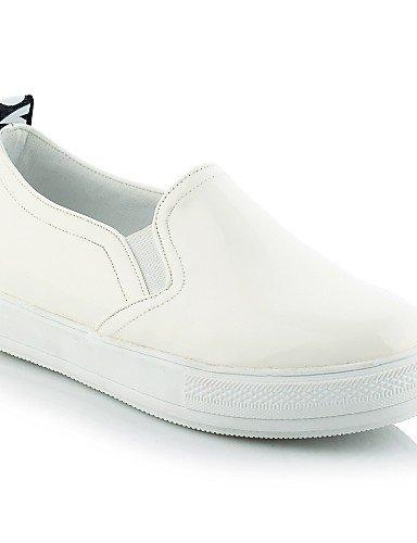 Mujer Zq Uk4 casual Eu43 Gyht 5 us6 Rosa mocasines negro Eu37 Cn37 5 Blanco Pink De plataforma Cn44 us11 5 Uk9 punta Redonda 7 Zapatos semicuero Black tAAwq