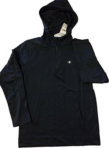 rmance Mens Large 1/4 Zip Hoodie, Black (Elite 1/4 Zip)