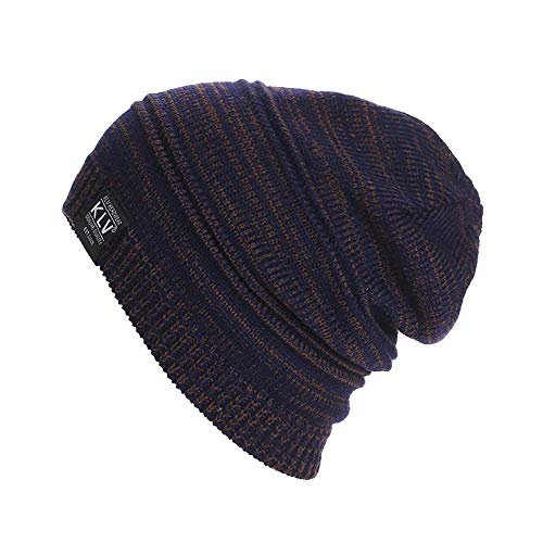 (NEEKEY Men Women Unisex Knit Baggy Beanie Winter Hat Ski Slouchy CO(Free Size,Coffee))