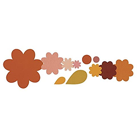 Sizzix Framelits Die Set 11/PK - Flower Layers & Leaf by Stephanie Barnard