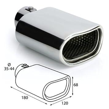 ER027 - Acero inoxidable de tubo de escape del tubo de escape de para atornillar Embellecedor de tubos de escape universales el absorbedor: Amazon.es: Coche ...