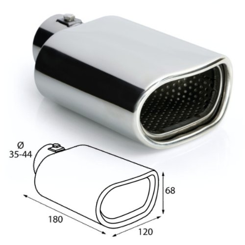 Stainless Steel pipe Exhaust Trim Tailpipe Muffler for Screwing universal with approval ER027