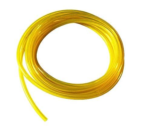 diam/ètre int/érieur 2/mm Carejoy Tuyau pour carburateur tron/çonneuse jaune 25 feet diam/ètre ext/érieur 4,5/mm pour d/ébroussailleuse