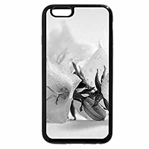 iPhone 6S Plus Case, iPhone 6 Plus Case (Black & White) - Dew on the petals for Di
