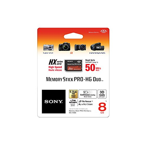 Sony 8 GB PRO-HG Duo HX Memory Stick MSHX8B (Black)