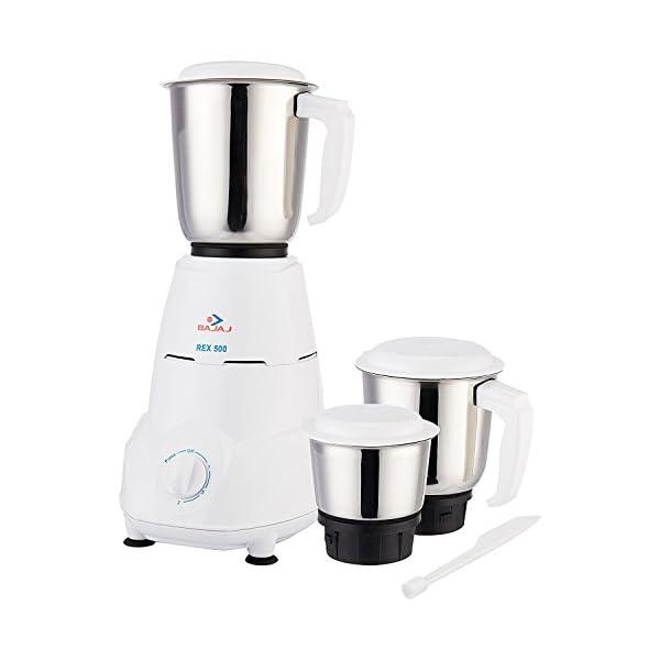 Bajaj 500-Watt Mixer Grinder with 3 Jars