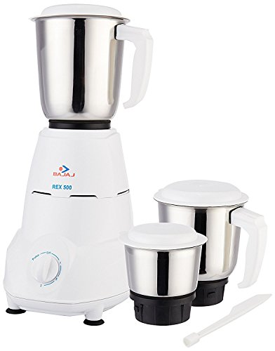 Bajaj 500-Watt Mixer Grinder with 3 Jars