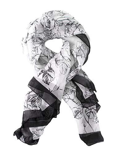 Max Mara Studio Women's Egizi Floral Print Silk Scarf One Size Navy & White - Max Mara Silk