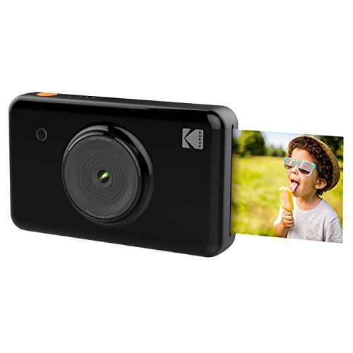 Kodak Mini SHOT Wireless 2 in 1 Instant Print Digital Camera & Printer With LCD Display w/4PASS Patented Printing Technology (Black) (Digital Camera Kodak)