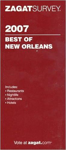 Zagat 2007 New Orleans Restaurants & Nightlife (Zagatsurvey)