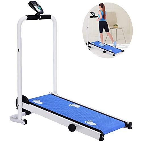 CYQAQ Folding Small Treadmill Multifunctional Mini Walking Machine Quiet Shock Absorption Mechanical Treadmill Fitness…