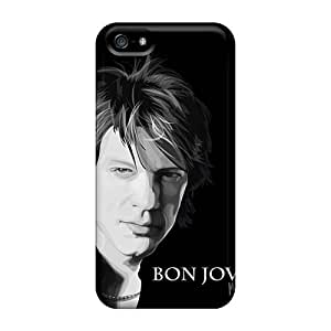 Protector Cell-phone Hard Covers For Iphone 5/5s (wck16465SylT) Custom Realistic Bon Jovi Pictures
