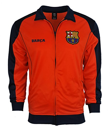 Rhinox Fc Barcelona Jacket Track Soccer Adult Sizes Soccer Football Official Merchandise Small New Orange ()