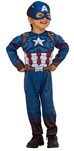 Costume China Captain (Captain America Muscle Chest Boys Toddler Halloween Costume)
