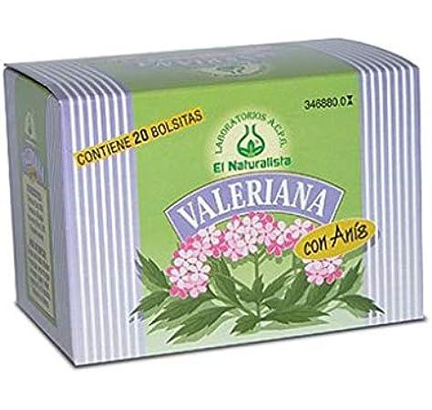 El Naturalista Valeriana Con Anis Infusion 20Bolsitas 1 Unidad 200 g: Amazon.es: Salud y cuidado personal
