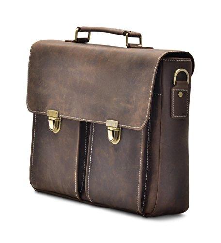 """Hølssen Briefcase Messenger 13"""" Laptop Genuine Leather Bag by Hølssen (Image #1)"""