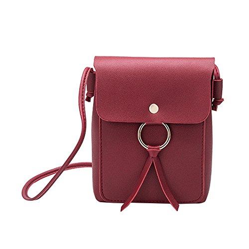 Cuadrado x para Bolsa Bolso marrón Color 6 Liso cm 13 5 Hombro x 17cm Bandolera Rojo 13 17 Mujer Flecos Paquete de 6 Milnut 5 Oqnx0p0