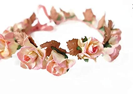 Amazon n1 pink paper flower crown made of mulberry paper n1 pink paper flower crown made of mulberry paper flowers and mightylinksfo