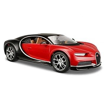 amazon bugatti chiron red black 1 24 by maisto 31514 ミニカー
