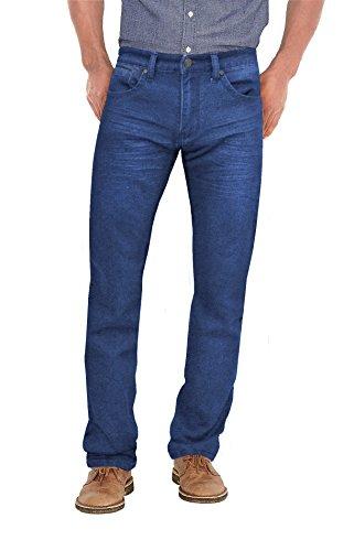 Mens Super Comfy Straight Stretch Denim Jean AKP44108SL True Mediu (Cotton Denim Mens Jeans)