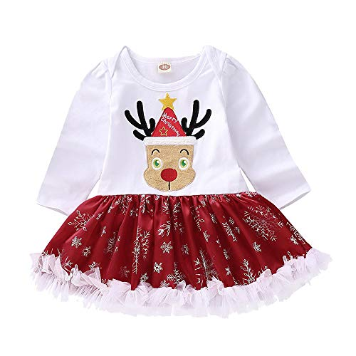 FEITONG Infant Baby Long Sleeve Fawn Print Romper