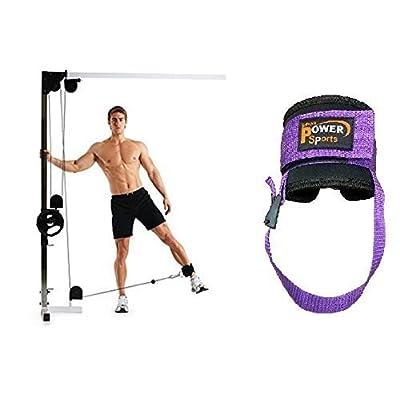 Violet OYSTON Gym bride cheville pied / FLEXIBLE vendu (simple) Câble Machine Multi-gym Fixation avec fourreau unisexe-adulte séances d'entraînement ( Yoga, Pilate, Kickboxing, Tae-Kwon-Do, Crossfit)