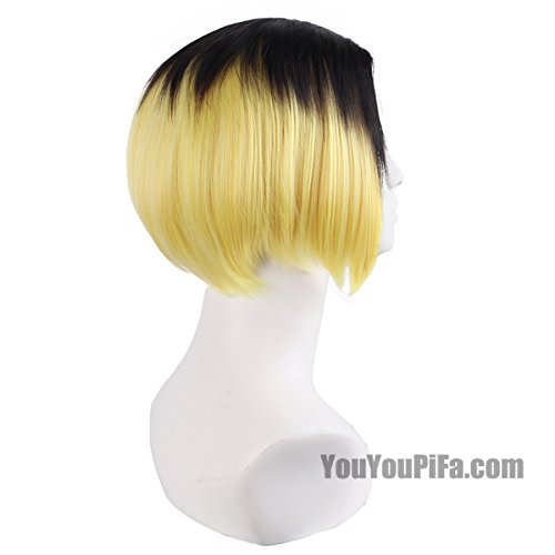 Cartoon volleyball claws grind solitary teenager wig short hair women girls female gradient color streaked wig straight hair
