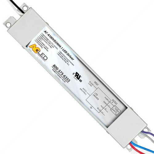 For ConstantVage Products Only 24V Dimmable LED Driver Min//Max LEDWage 10-100W Driver Input 120-277V AC-A100VD24H4.1