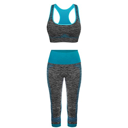 FITIBEST Sport Suits High Impact Sports Bra Yoga Pants Gym Outfits Breathable Exercise Bra and Leggings for Women (M, (70's Workout Outfits)